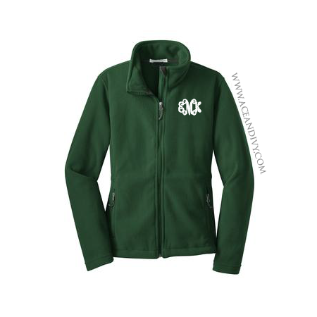 Monogrammed Fleece Jacket