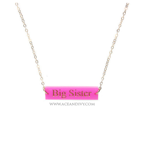 Greek Big Little Necklace