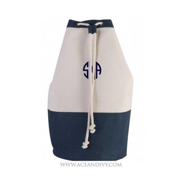 Monogrammed Laundry Bag - Navy