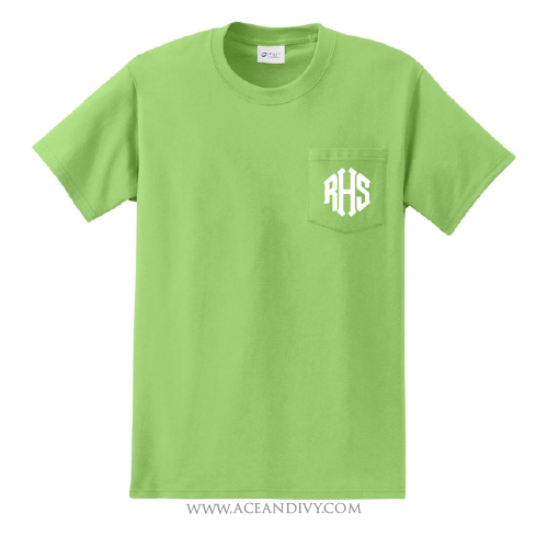Monogrammed Short Sleeve Pocket Tee