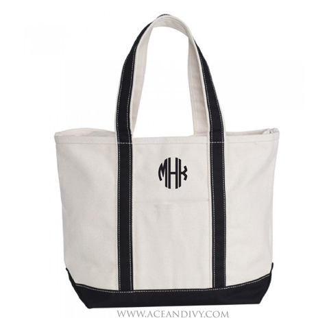 Monogrammed Boat Tote