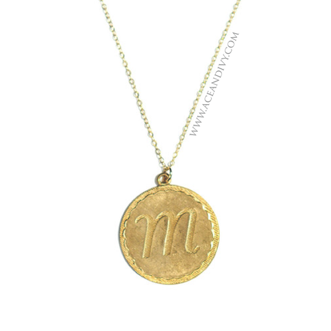 Metal Dalton Initial Necklace
