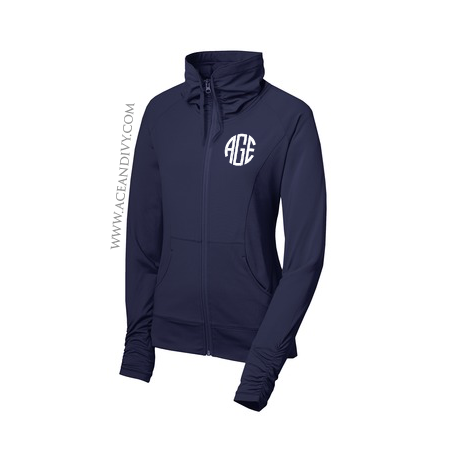 Monogrammed Full-Zip Sport Jacket