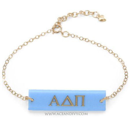 Greek Letter Bar Bracelet