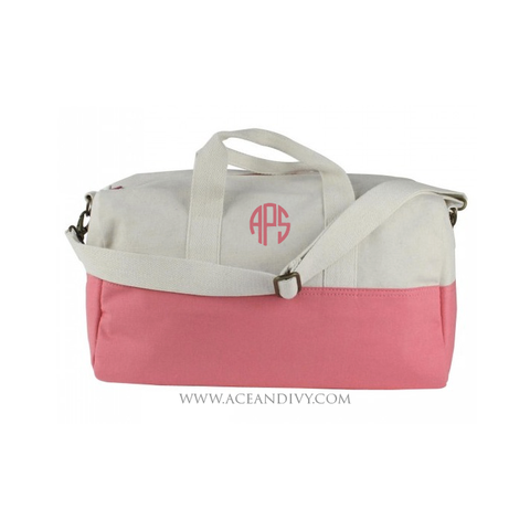 Monogrammed Color Block Duffel Bag