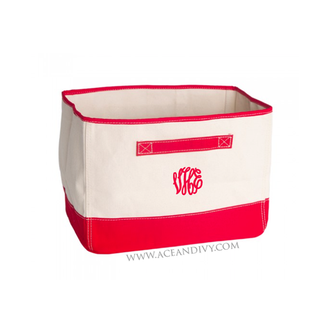 Monogrammed Tub - Red