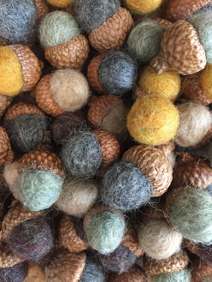Hand Felted Wool Acorns