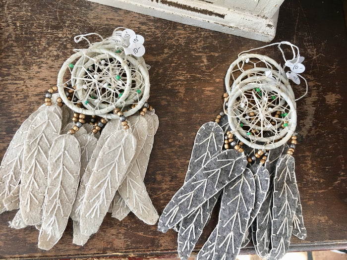 Dream Catcher with Wool Felt Feather