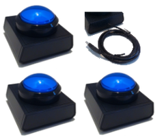 3 Player Wireless Buzzer - Blue
