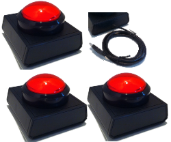 3 Player Wireless Buzzer - Red