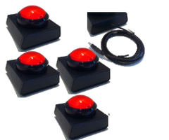 4 Player Wireless Buzzer - Red
