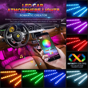 Multicolor Car LED Interior Atmosphere Lights With Music Activation