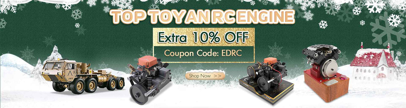 Christmas SALE Top Toyan RC Engine Extra 10% OFF