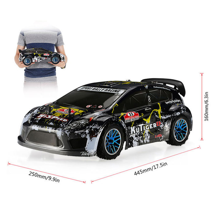 HSP 94118PRO 1:10 4WD Electric Brushless High Speed Off-road Rally Racing 2.4G Wireless RC Model Car (Car Shell in Random Color) - RTR Version - enginediy