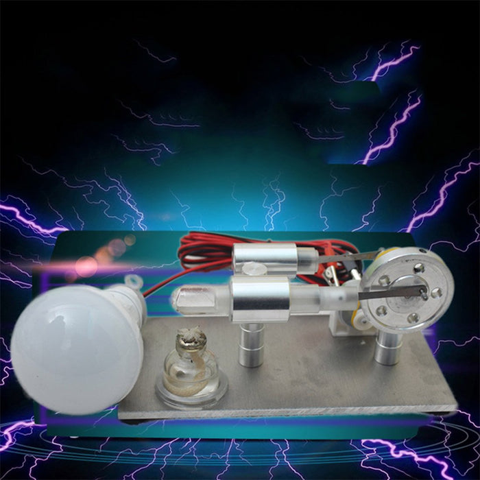 enginediy Stirling Engine with LED Stirling Engine Model with Generator Bulb Science Developmental Toy