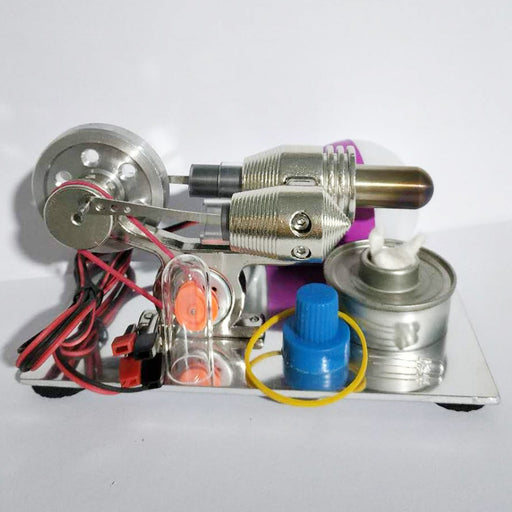 enginediy Stirling Engine with LED Stirling Engine with Generator and Bulb Stirling Motor Model Science Toy