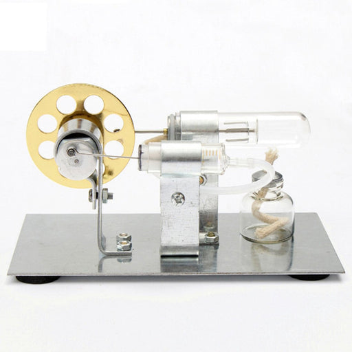 enginediy Single Cylinder Stirling Engine Stirling Engine Kit DIY Single Cylinder Stirling Engine - Ideal Engine Model Gift for Your Kids Enginediy