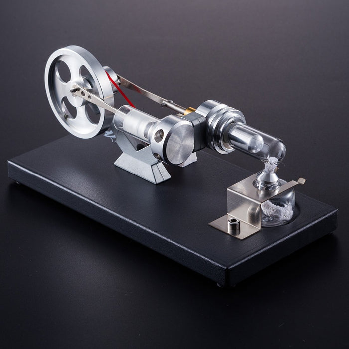 enginediy Stirling Engine with LED 4 LED Light Stirling Engine Model Hot Air Stirling Engine Generator for Gift Collection