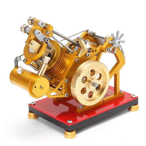 enginediy Vacuum Engine Stirling Engine Kit Golden Flame Licker Eater Vacuum Engine Model Kit V1-45