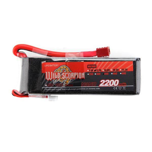 11.1V 2200mAh 3S 30C Lipo Battery with T Plug for RC Car Truck Airplane Boat Blaster Toyan Engine - enginediy