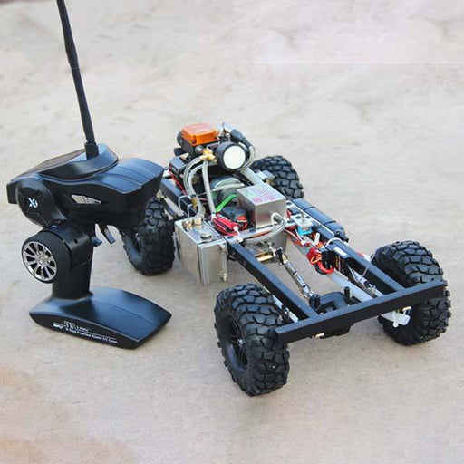 enginediy RC Car 1/10 Scale RC Car Kits Set with Toyan Petrol Engine and 4 Channel Remote Controller
