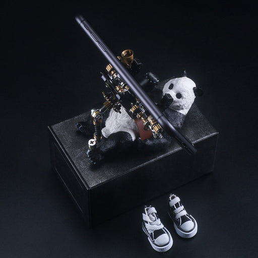3D Metal Model Kit Mechanical Panda Small Phone Holder DIY Games Assembly Puzzle Jigsaw Creative Gift - 129Pcs - enginediy