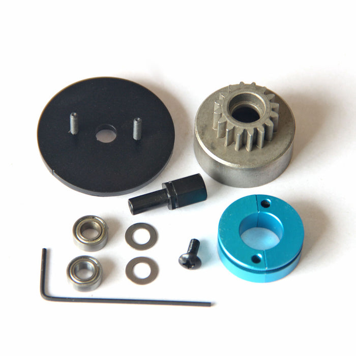 Single Gear Clutch Assembly RC Model Ship Upgrade Part for TOYAN FS-L200 Double-cylinder 4-stroke Methanol Engine Model
