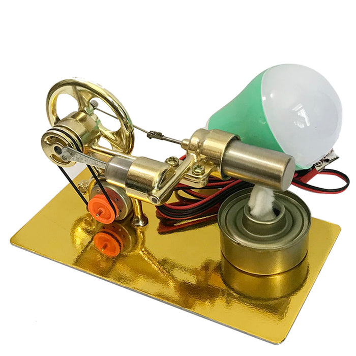 Single Cylinder Stirling Engine Model Kit With LED for Science Experiment - enginediy