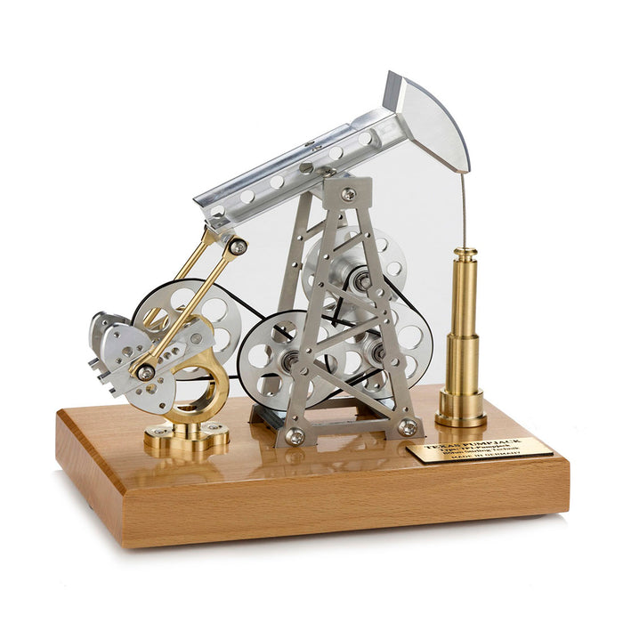 Stirling Engine DIY Assembly Kit Linkage Device Runnable Oil Well Model Metal Mechanical Crafts Gift Collection