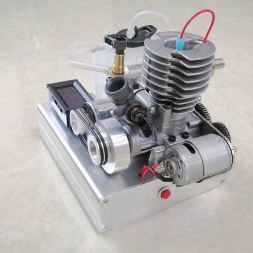 enginediy Engine Models 15 Stage 30 Watt Methanol Low Voltage Generator Motor - One Button Start - Ideal Gift Collection