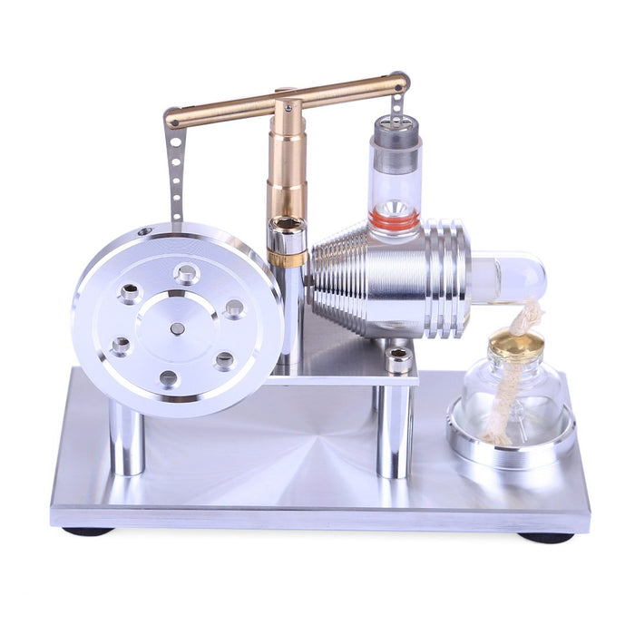 Hot Air Stirling Engine Model Stainless Steel Balance Engine Experiment Toy - Enginediy