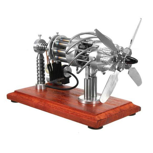 enginediy Multi-Cylinder Stirling Engine 16 Cylinder Stirling Engine Model Gas Powered Stirling Engine Collection Toy Gift