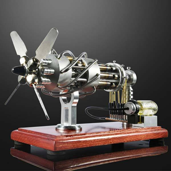 16 Cylinder Stirling Engine Model Gas Powered Stirling Engine Collection Toy Gift - enginediy