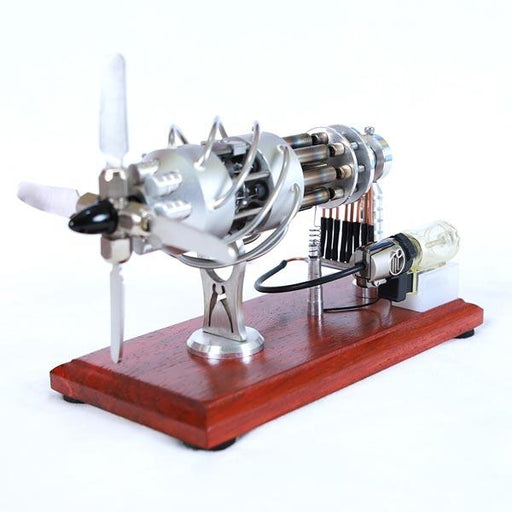 enginediy Multi-Cylinder Stirling Engine 16 Cylinder Stirling Engine Model Kit Collection Gift for Engineer - Enginediy