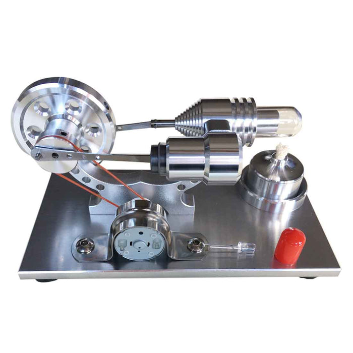Stirling Engine Model with LED Metal Science Experiment Kit - enginediy