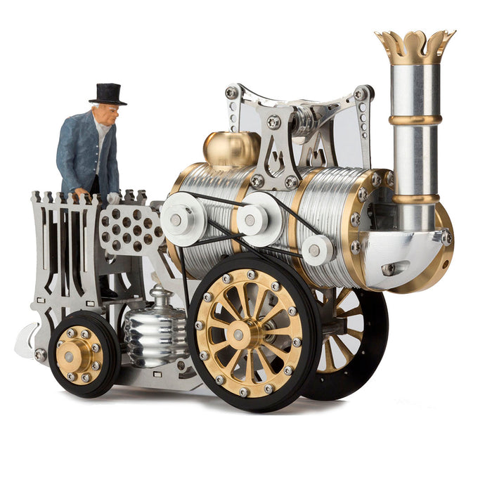 Stirling Engine Steam Train Model DIY Assembly Metal Mechanical Crafts (No Track )---Running Version - enginediy