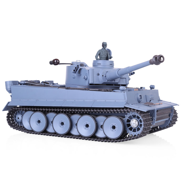 1:16 2.4G Metal German Tiger I RC Tank Infrared Battle Heavy Tank Model with Simulation Light Smoke FPV Dashcam
