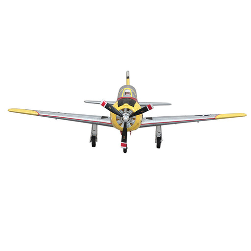 100mm T-28 Jrojan RC Plane Electric Airplanes  Lower Single Wing Fighter RC Airplane Model Assembly Fixed-wing Aircraft- PNP Version - enginediy