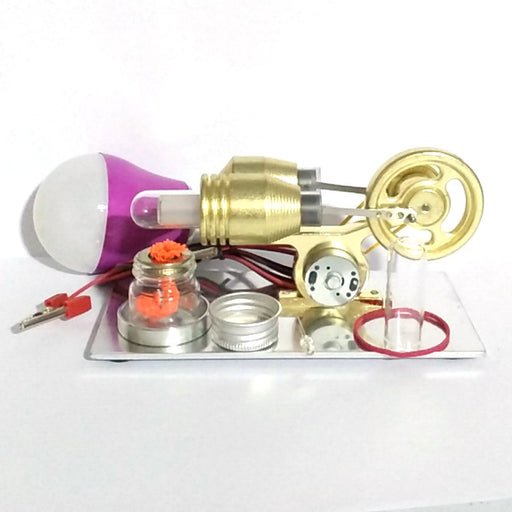 enginediy Stirling Engine with LED Stirling Engine Model with Electric Generator Engine DIY Science Toy Enginediy