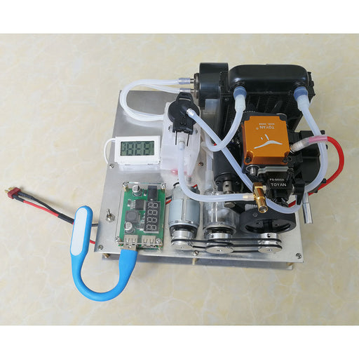 TOYAN Methanol / Gasoline General Engine Model DIY Micro Water-cooled Generator Set (with Water Pump / Radiator Water Tank / Thermometer) - enginediy