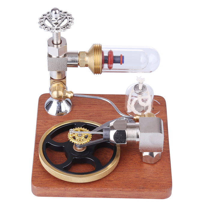 Stirling Engine Model with Horizontal Flywheel Speed Adjustable | Science Experiment Engine