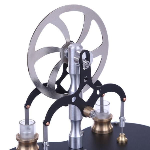 2 Cylinder Low Temperature Difference Stirling Engine Twin LTD Stirling Engine Toy Gift - enginediy