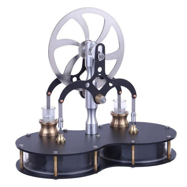enginediy Low Temperature Stirling Engine 2 Cylinder Low Temperature Difference Stirling Engine Twin LTD Stirling Engine Toy Gift