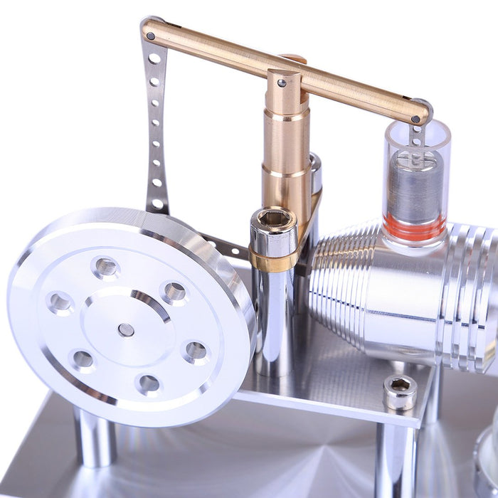 Hot Air Balance Stirling Engine Model Stainless Steel - Enginediy