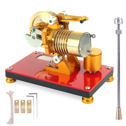 enginediy Vacuum Engine Vacuum Engine Fame Eater Engine 100-2000RPM Flame Licker Engine Model Educational Toy