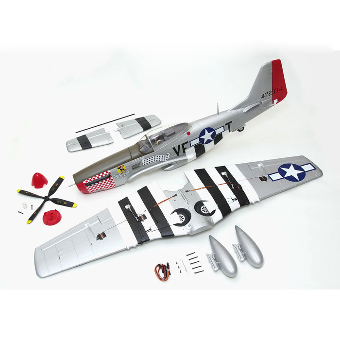 1100mm P-51 RC Plane Electric Airplanes Model Assembly Propeller Fighter Fall Resistant Fixed-wing Aircraft - PNP - enginediy