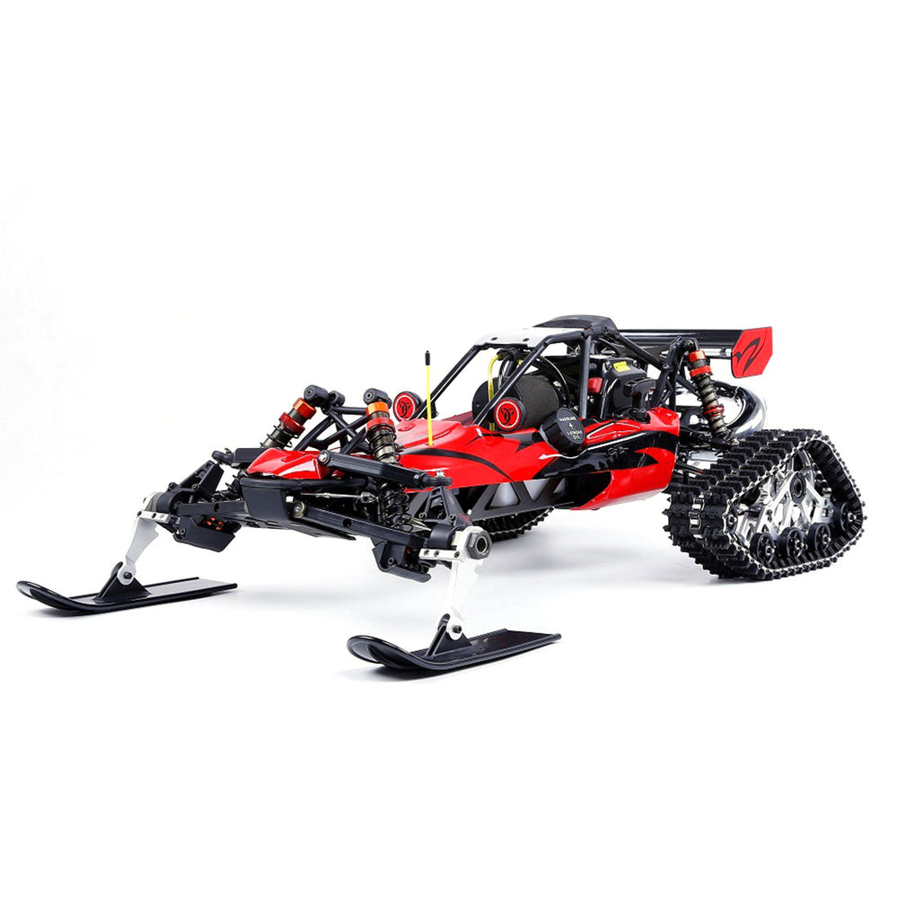 Rovan BAHA305AS Snow 1/5 2WD 2.4G RWD Gasoline Off-road Vehicle RC Model Car with 30.5cc Engine and 4 Tyres - RTR Version - enginediy