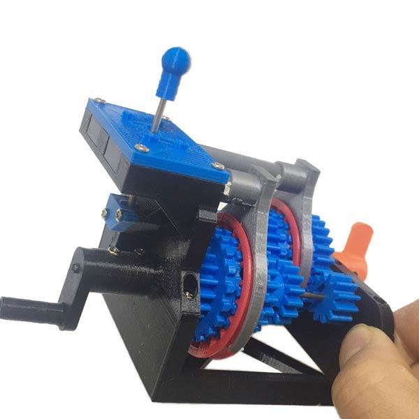 3D Printed Manual Transmission Model Physics Experiment Teaching Model Educational Toy - enginediy