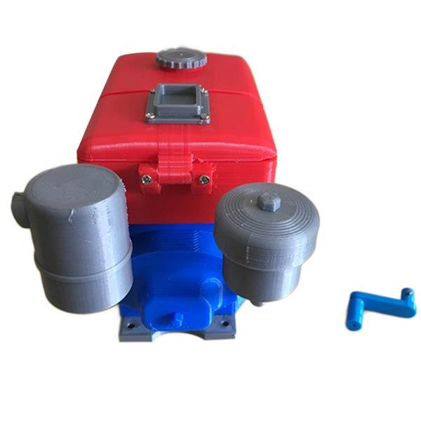 3D Printed Single Cylinder Diesel Engine Model Tractor Engine Stem Toy with Motor - enginediy