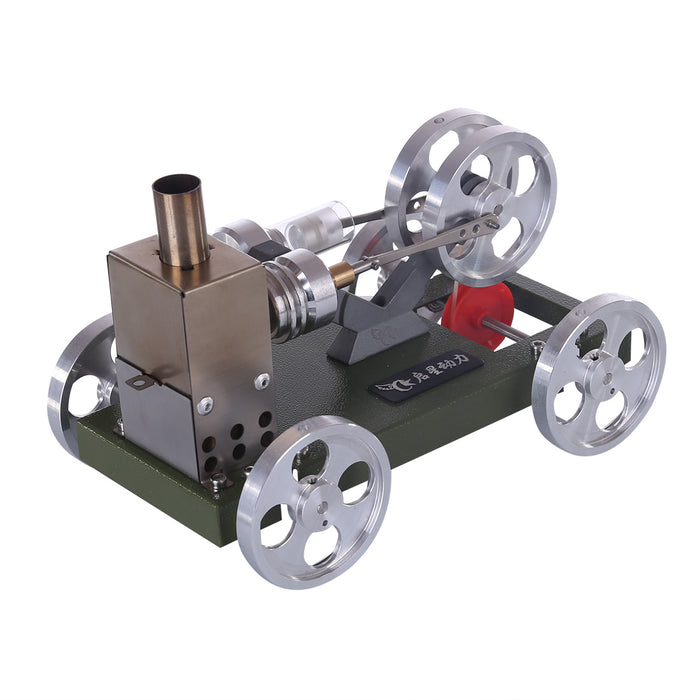 ENGINEDIY Stirling Engine Car Model Set Engine DIY Assembly Kit Physical Experiment Toy